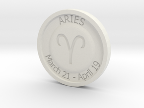 Aries Coin in White Strong & Flexible