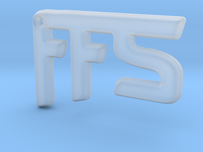 FFS! Pendant in Smooth Fine Detail Plastic