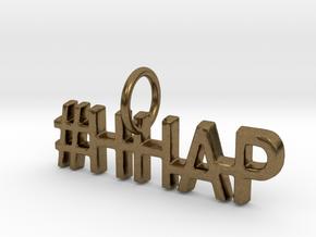 #HHAP Pendant in Natural Bronze