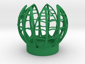 Seven Leaf Tealight in Green Processed Versatile Plastic