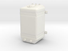 Fuel Tank Promod Upright 1/18 in White Strong & Flexible