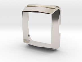 Timesquare wordclock housing in Rhodium Plated Brass