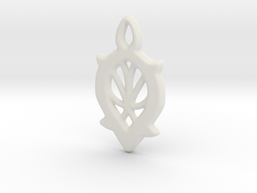 Dewdrop Web Pendant in White Natural Versatile Plastic: Small