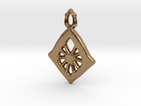 Diamond Web Pendant in Natural Brass: Small