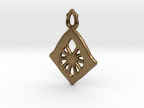 Diamond Web Pendant in Natural Bronze: Large