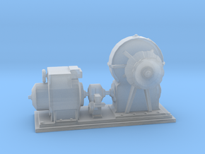 1/72 IJN Electric Deck Winch in Smooth Fine Detail Plastic