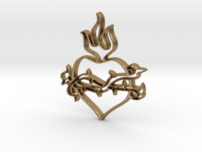 Heart 2 in Polished Gold Steel