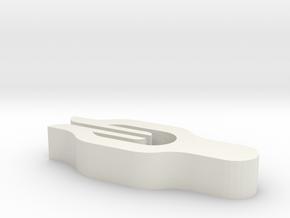 Clip in White Natural Versatile Plastic