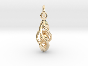Fertility in 14k Gold Plated Brass