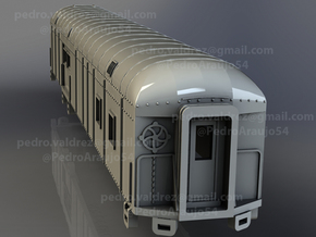 D&RGW RPO Baggage Car NScale in Smooth Fine Detail Plastic
