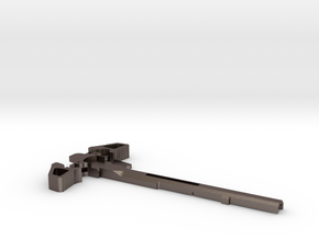 Charging Handle for Ares Amoeba Brand in Polished Bronzed Silver Steel