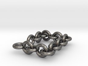Chain-XL 30 - 40 cm lang in Polished Nickel Steel