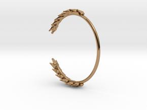 Wheat Bracelet in Polished Brass: Small