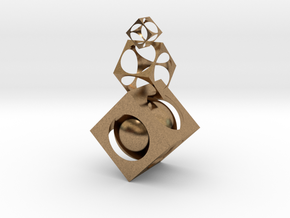 Square ball in Natural Brass (Interlocking Parts)