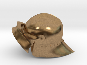 Playmobil - 15th century sallet with open visor in Natural Brass
