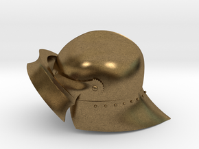 Playmobil - 15th century sallet with open visor in Natural Bronze