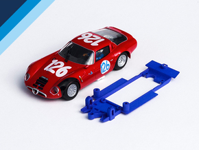 1/32 Fly Alfa Romeo TZ2 Chassis for Slot.it IL pod in Blue Strong & Flexible Polished