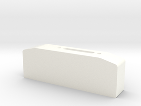 Winch box depth 25 mm for standard hawse fairlead  in White Processed Versatile Plastic