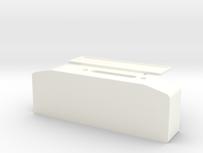 Winch box depth 25 mm with licence plate holder D9 in White Processed Versatile Plastic