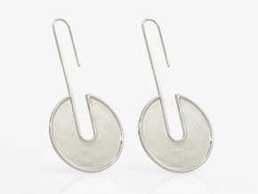 FLAT Nº 4 EARRINGS in Fine Detail Polished Silver