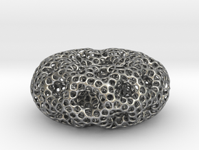 Holey holey donut in Natural Silver