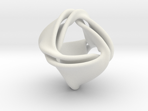 Tetra-ducov (no holes) in White Natural Versatile Plastic