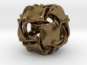 Cubocta-ducov (no holes) in Natural Bronze