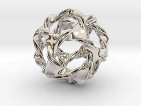 Dodeca-ducov (no holes) in Rhodium Plated Brass