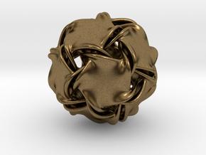 Icosa-ducov (no holes) in Natural Bronze