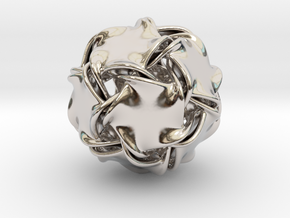 Icosa-ducov (no holes) in Rhodium Plated Brass