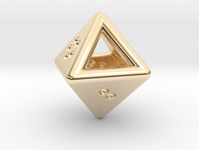 Unusual D8 (not twisted) in 14k Gold Plated Brass