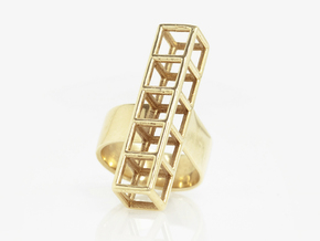 STRUCTURE Nº 4  RING in 14K Yellow Gold: 7 / 54