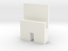 iPhone/iPad Holder in White Processed Versatile Plastic