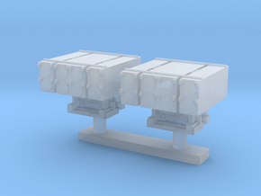 1:400 Scale Mk 25 BMPDS Sea Sparrow Launchers (2x) in Smooth Fine Detail Plastic