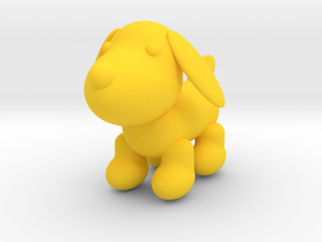 105102342:Puppy modeling lights in Yellow Strong & Flexible Polished