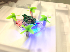 Mini Drone Frame for Eachine E010 - Faster, Strong in White Natural Versatile Plastic