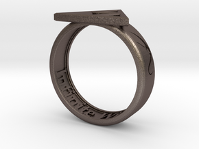 Ring - Triforce of Wisdom in Stainless Steel: 6 / 51.5