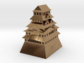 Himeji Castle in Natural Brass