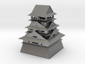 Kumamoto Castle in Natural Silver