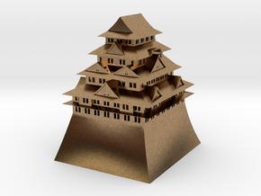 Nagoya Castle in Natural Brass