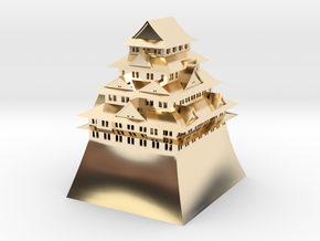Nagoya Castle in 14K Yellow Gold