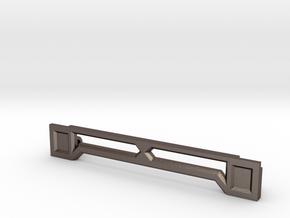 Tamiya KV-1 Idler brace 1/16 in Polished Bronzed Silver Steel