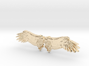 Angel's wing in 14k Gold Plated Brass
