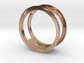 Verbundener Ring in 14k Rose Gold
