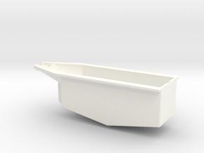 OX5-16 Scale-Lower Crankcase in White Processed Versatile Plastic