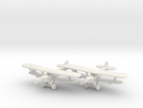 Hawker Hardy Pair (two airplanes set) 1/285 6mm in White Natural Versatile Plastic