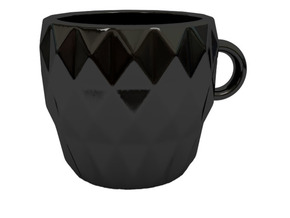 Espresso cup in Gloss Black Porcelain