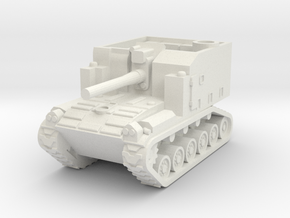 1/144 M44 self propelled howitzer in White Natural Versatile Plastic