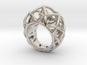 Bague Cage Géométrique Pour Export in Rhodium Plated