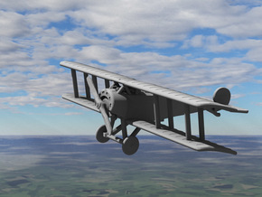 Fokker D.III in White Strong & Flexible: 1:144